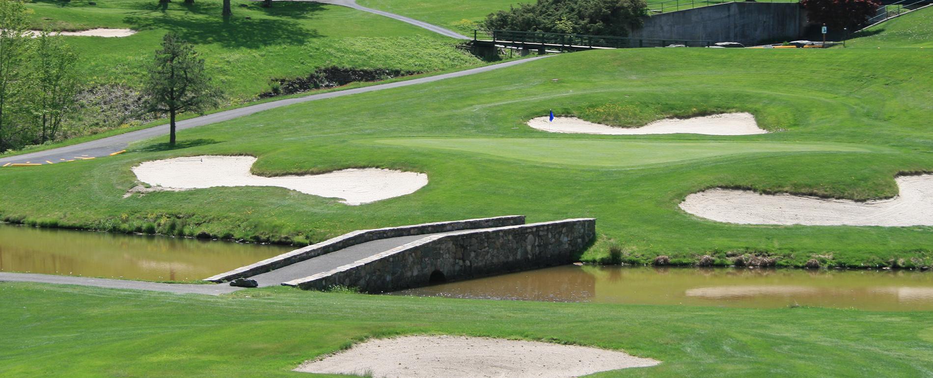 Mount Airy Casino Golf bridge