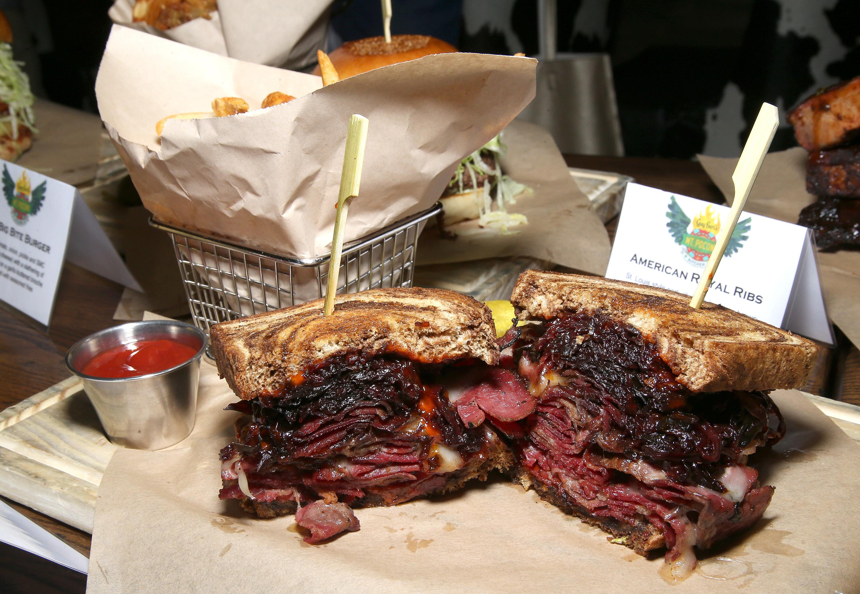 Mount Airy Casino Guy Fieri American Royal Ribs Sandwich