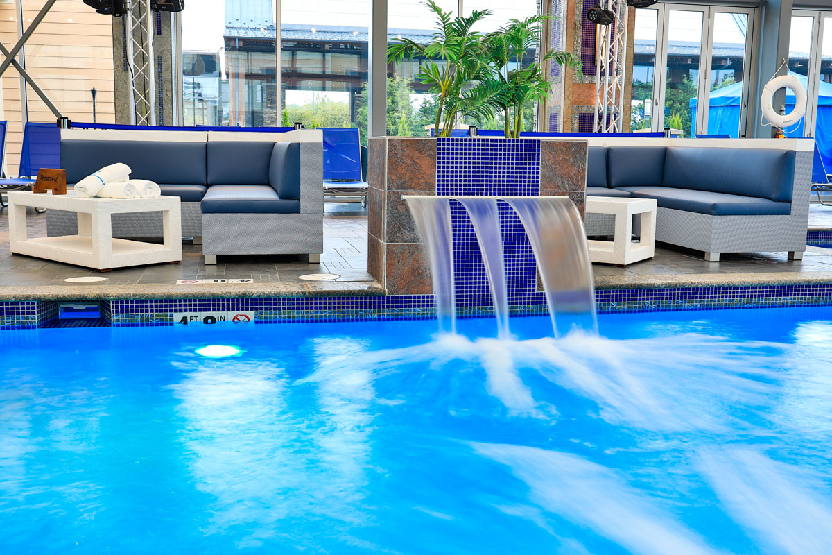 Mount Airy Casino Get Wet Ultra Pool Waterfall and Daybeds