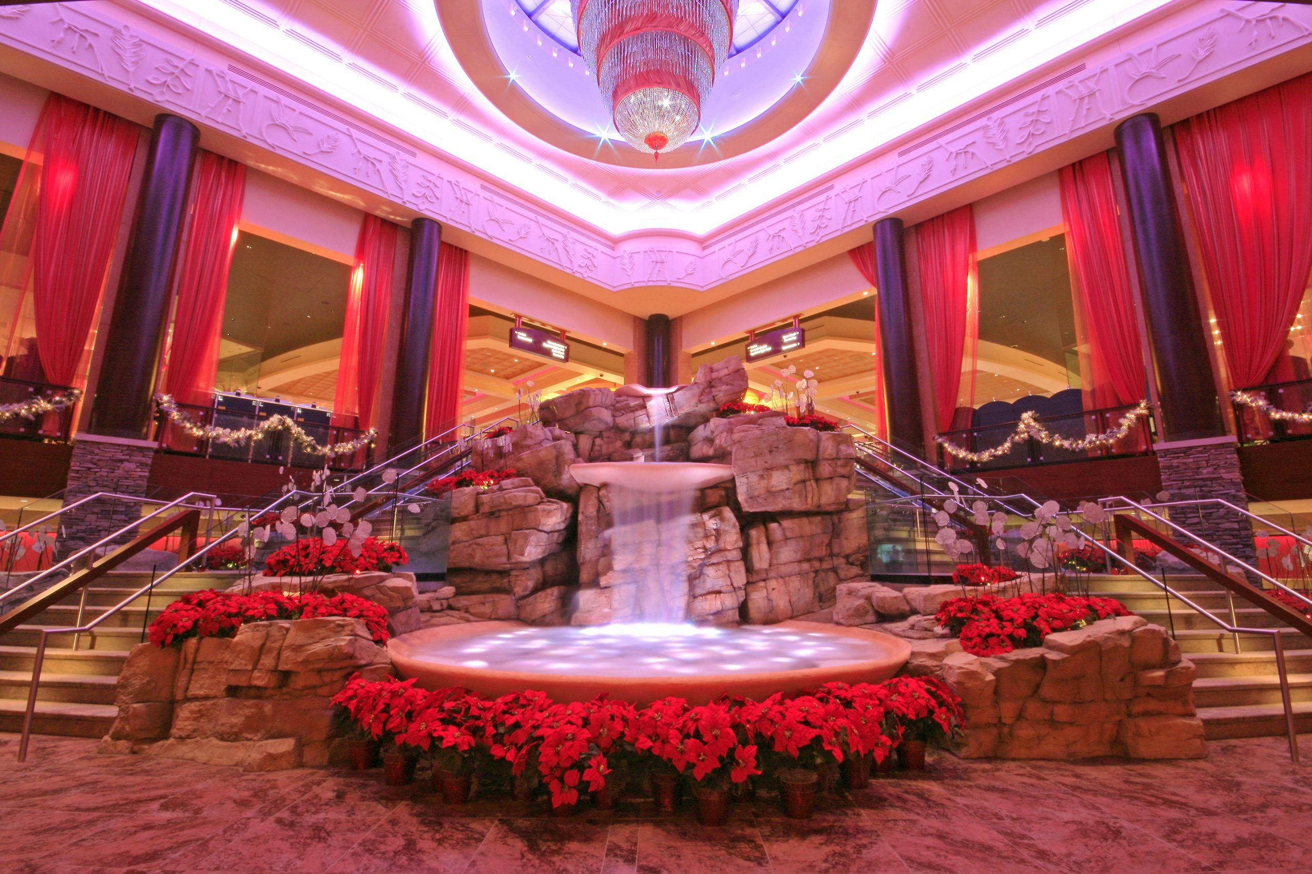 Mount Airy Casino Winter decor