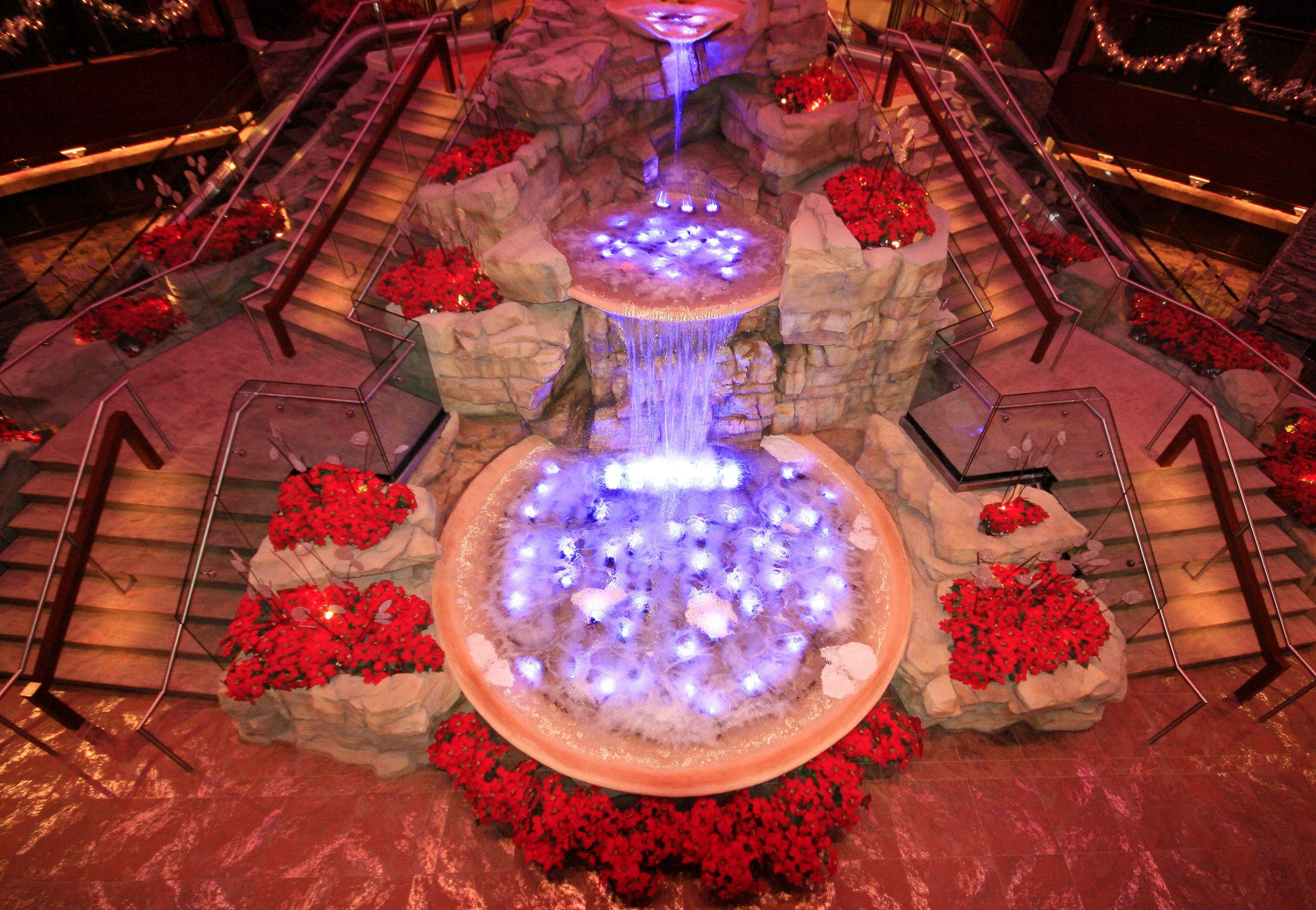 Mount Airy Casino Waterfall fountain