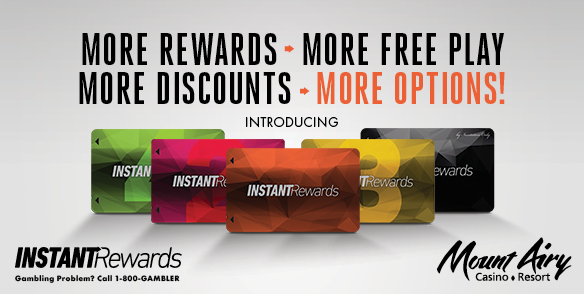 Instant Rewards Player's Club Card