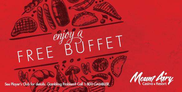 enjoy a FREE BUFFET