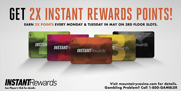 2x Instant Rewards points