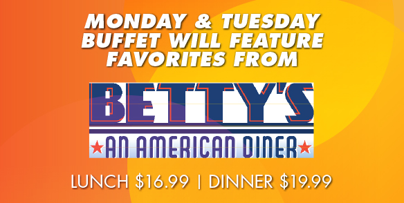 Betty's An American Diner Buffet Promotion
