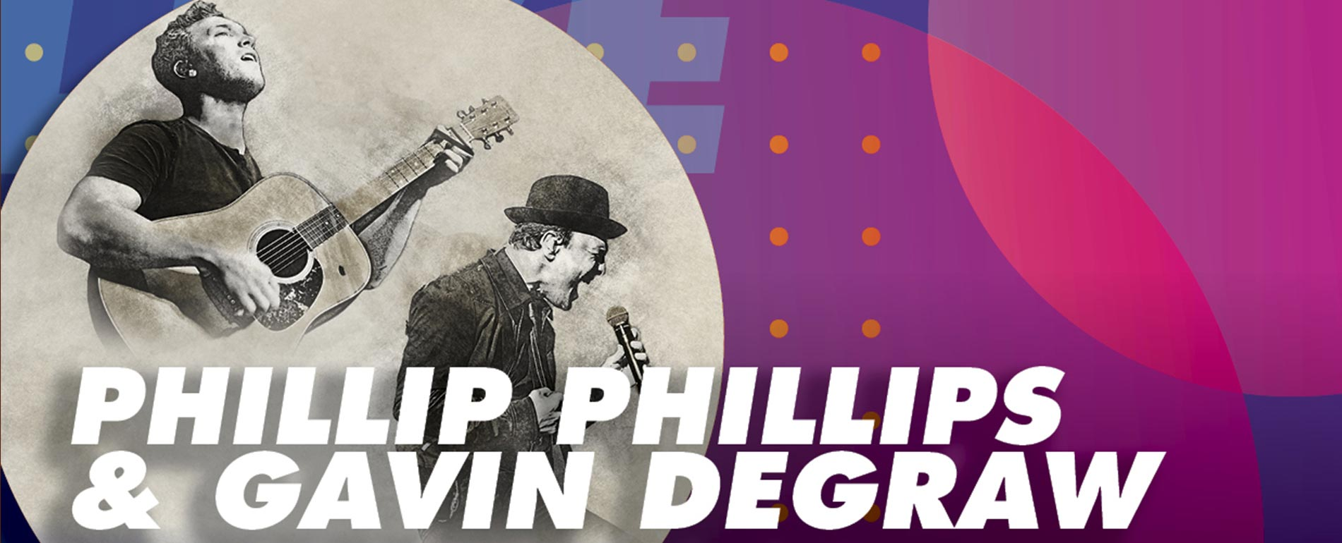 Phillip Phillips and Gavin Degraw Concert in the poconos