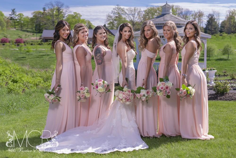 Pocono Wedding - bride and bridesmaids