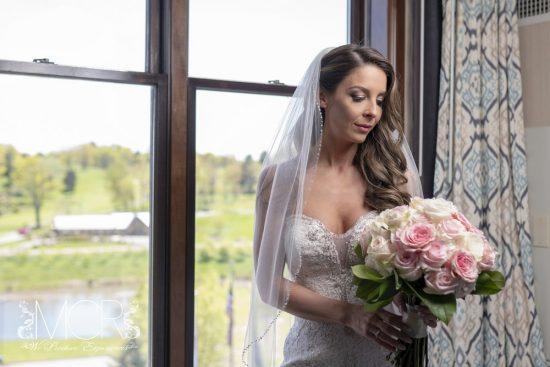 Pocono Wedding - bride getting ready