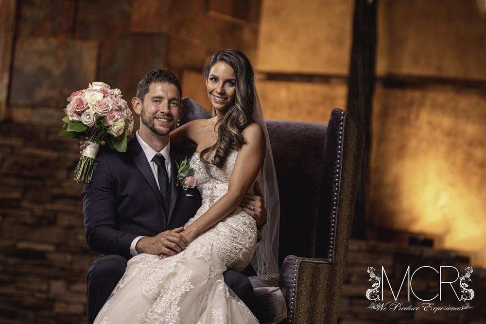 Pocono Wedding - Interior shot of couple