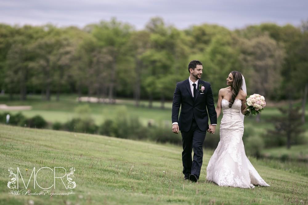 Pocono Wedding - golf course field