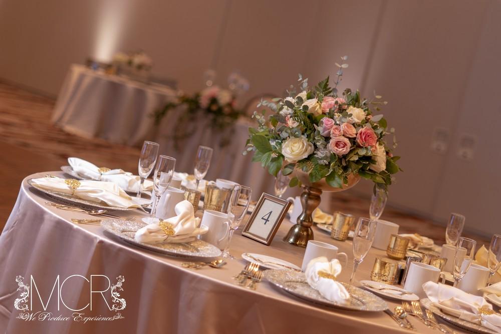 Pocono Wedding - dinner table