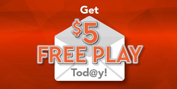 Get $5 Free Play Tod@y!