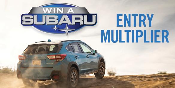 Win a Subaru Entry Mulitplier