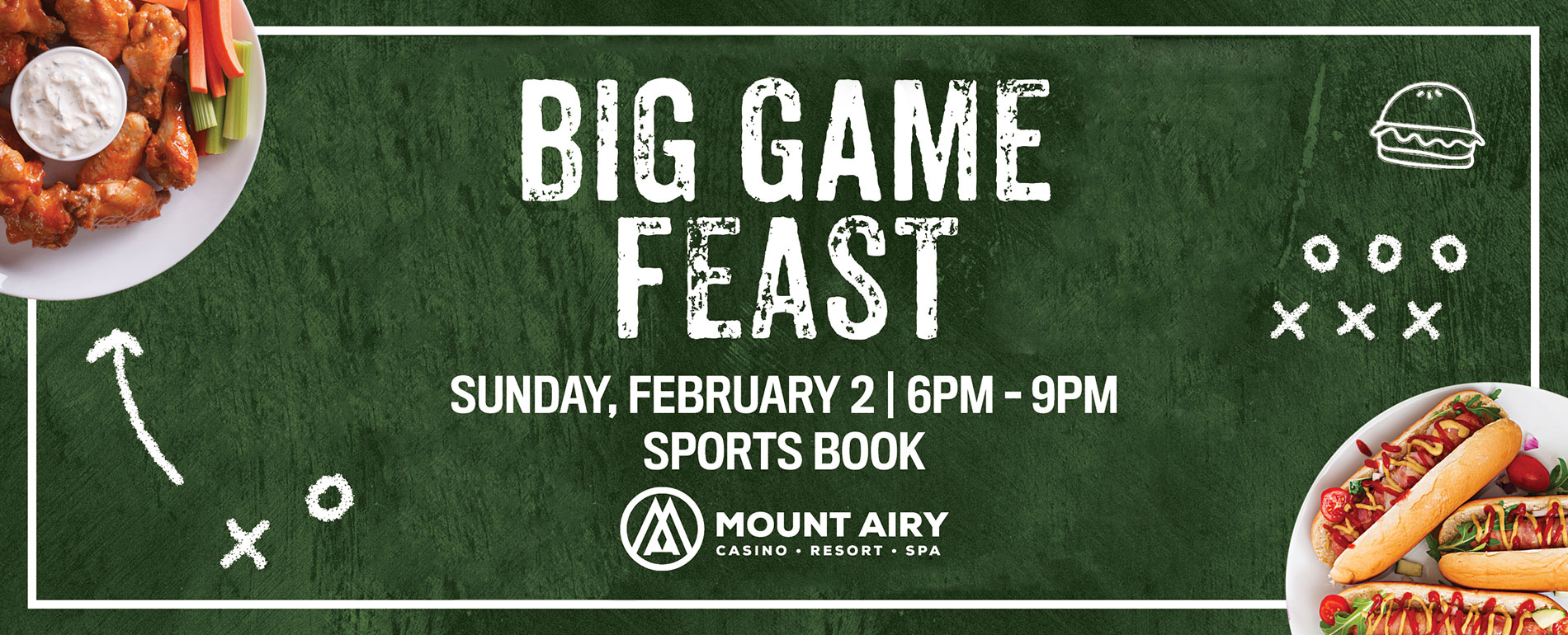 Mt Pocono Football Game - The Big Game Feast Buffet Party