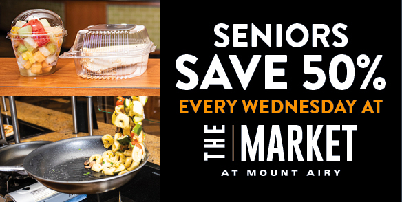 Senior Wednesdays - 50% off the Market