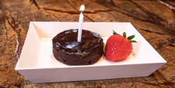 Pre-set Amenities | Chocolate Gluten Free Celebration Cake
