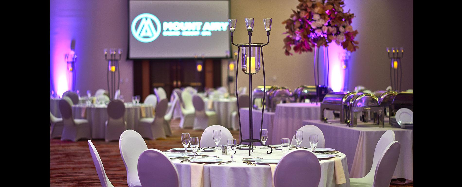 pocono fall indoor wedding