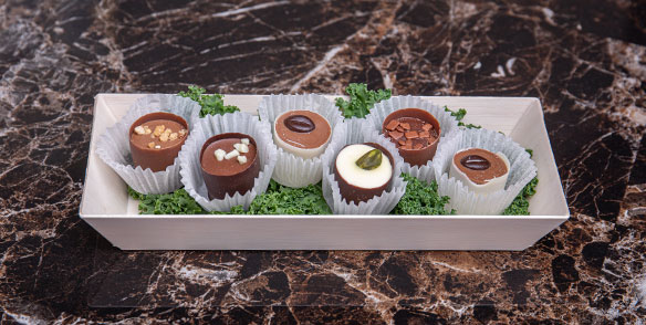 6 chcoolate truffle cups - preset amenities