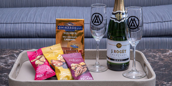 2021 Amenities | Movie night package- chocolates and nuts with champagne
