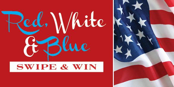 Red, White & Blue Swipe & Win