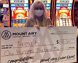 100,000 jackpot winner