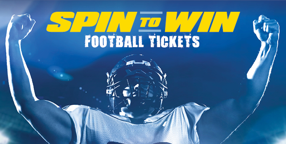 Spin to Win Football Tickets