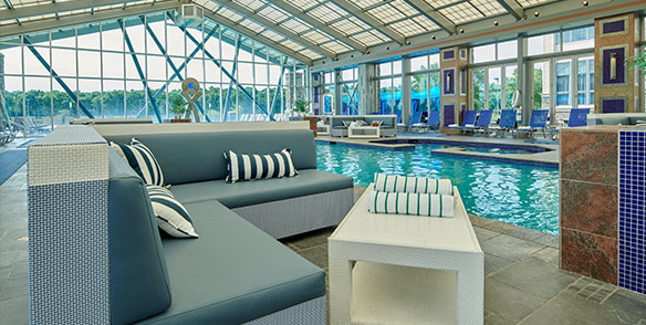 indoor daybed and pool