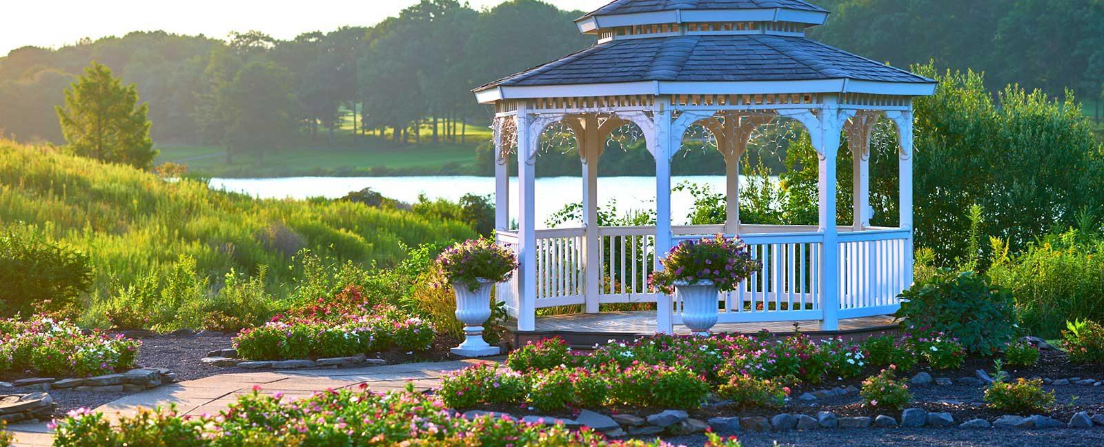 outdoor wedding venue PA gazebo