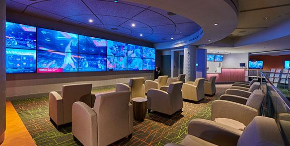 sports book lounge multiple tv screens