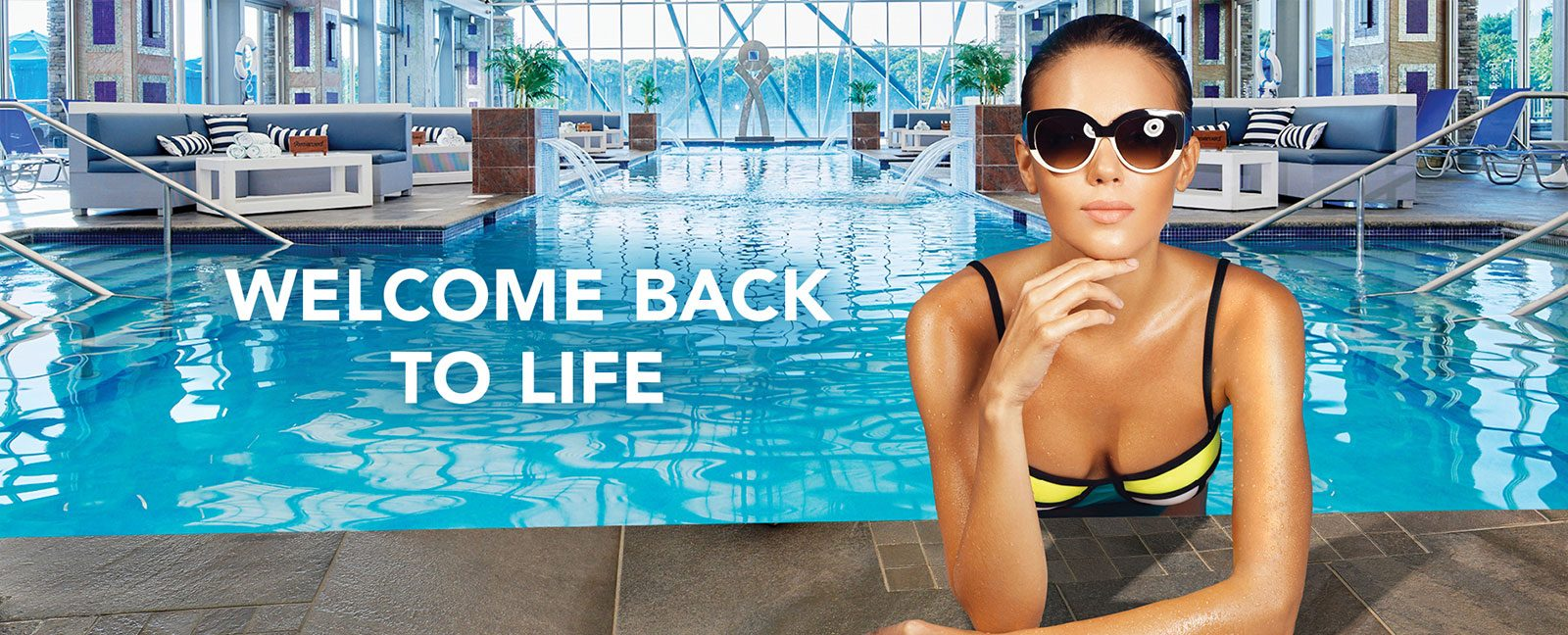 welcome back to life - indoor pool and daybeds